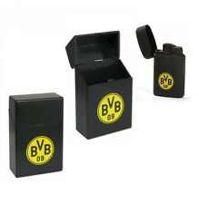 Zigarettenbox und Jet Flame Feuerzeug EMBLEM Trikot BVB Borussia Dortmund NEU!!