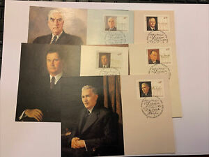 1994 :: WARTIME PRIME MINISTERS ::: 5v Maxi Card set.   loose ABCZZZ