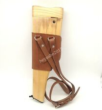 WWII WW2 military GERMAN MAUSER BROOMHANDLE LEATHER HOLSTER AND STOCK