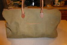 """Vintage Smith & Hawken Duffle Bag 23"""" Canvas & Leather Gym Overnight Carry On"""
