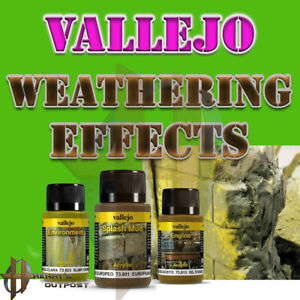 Vallejo Weathering Effects 40ml Bottles - Mud, Grime, Stains, etc Free Shipp $35