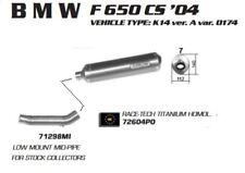 "ARROW slip on Exhaust - ""Race Tech Titane Homologué-BMW F 650 CS 04"