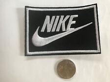 "Nike Black iron on Patch - patches new Appx 3"" x 2"" Nice"