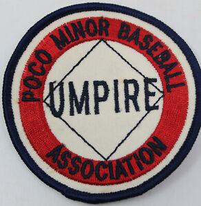 """POCO Minor Baseball Association Umpire 3"""" Badge Patch Port Coquitlam BC Canada"""