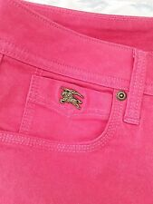 1005 Authentic Burberry skinny ankle jeans sz 27W bays water coral NWT