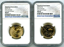 2019 P D PENNSYLVANIA NGC MS66 AMERICAN INNOVATION DOLLAR SET FIRST DAY OF ISSUE