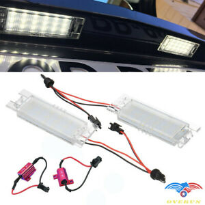 2Pcs LED License Plate Light Lamps For 2014-2017 Jeep Renegade FIAT 500X SUV