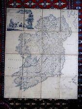 1792 Beaufort Mapa Irlanda Grande 109x88 Dublin Belfast Genuino Grabado Antiguo