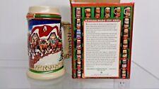 1998 Budweiser Holiday Stein / mug - Anheuser Busch in Box