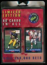1992 CLASSIC DRAFT PICKS FOOTBALL COMPLETE FACTORY SEALED SET 1-60 /300,000