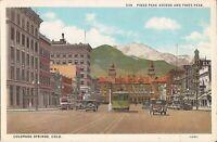 Pikes Peak Avenue & Pikes Peak - Colorado Springs, COLORADO - trolley, old car