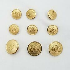 Vintage Stafford Gold Colored Replacement Suit Buttons