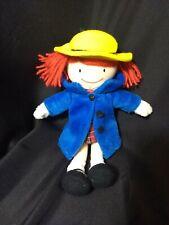 Madame Alexander Madeline Girl Doll Plush Stuffed Toy 9� Red Yarn Hair Coat Hat