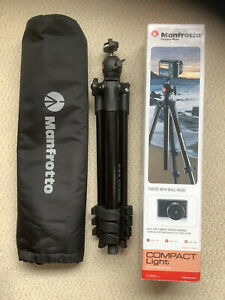 Manfrotto Compact Light Tripod With Ball And Socket  Head And Soft Carry Case.