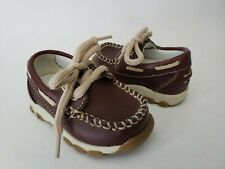 SMARTFIT Brown Lace Up Loafers Infant Boat Deck Shoes Baby Boys Sz 3
