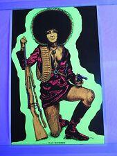 Vintage Blacklight Poster BLACK PANTHERESS PANTHER Civil Rights Geo Stowe Jr WOW