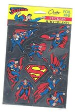 1993 DC Comics Superman Foil Stickers sheet,Sealed. Canadian edition.
