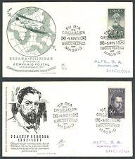 ESPAÑA - AÑO 1953 - EDIFIL 1124/25 - LEGAZPI Y SOROLLA - SOBRES DE PRIMER DÍA