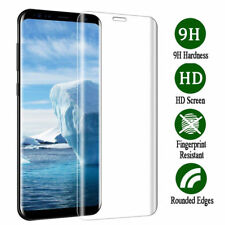 Tempered Glass Screen Protector for Samsung Galaxy S9 Curved Clear Full Cover