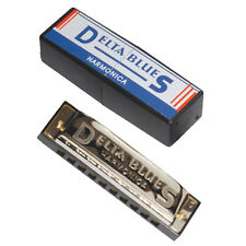 New Delta Blues Diatonic Harmonica 10 Hole in the Key of C with Harp Case