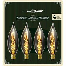 Globe Electric 01327 25 Watt Vintage Edison B10 Flame Tip Bulb Incandescent