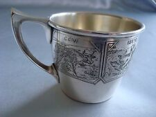 BLACKINTON sterling silver ~BABY CHILD CUP ~ ANIMALS NURSERY ~ ADORABLE!!