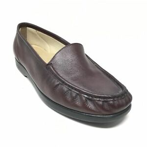 Women's SAS Simplify Casual Loafers Shoes Size 12 WW Extra Wide Burgundy Leather