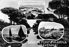 2215) SALUTI DA PUNTA MARINA (RAVENNA) 3 VEDUTINE. VIAGGIATA NEL 1964.