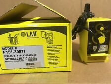 LMI Chemical Metering Pump P151-398TI 1 GPH 110 psi PVDF Manual Control