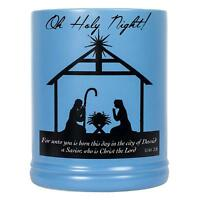Christmas Nativity Black Silhouette Stoneware Electric Large Jar Candle Warmer