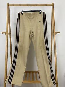 VTG Adidas 80s Trefoil Striped Trim Track Jogger Pants Size M