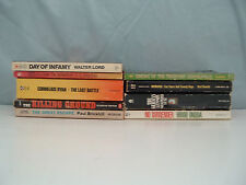 Vintage 9 world war II paperback book lot non fiction and fiction No Surrender