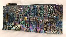 Brahmin Melbourne Credit Card Slim Wallet Iridescent Leather MOTHER OF PEARL NWT