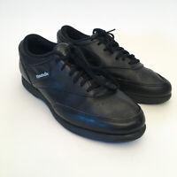 REEBOK Vintage 1990's Leather Fitness Walker Walking Shoes Nice Black US8.5 Mens