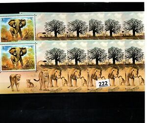 # 10X UMM AL QIWAIN - MNH - NATURE - WILD ANIMALS - LIONS - ELEPHANTS