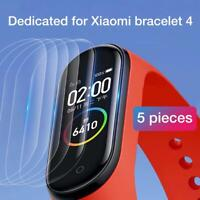 For Xiaomi Mi Band4 Clear Screen Protector Protective Film Guard Watch 5PCS v5R