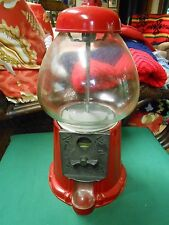 """Great Collectible Gum Ball Machine.Metal and Glass.14.75"""" height.Sale"""