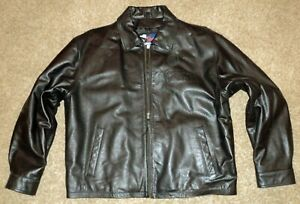 RANGER BOATS 2005 Owner's Group mens size XL embossed logo Black Leather Jacket