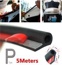 Car Door Rubber Seal Edge Trim Strip Universal 5M P-Type Noise Insulation