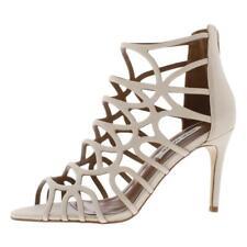Steve Madden Womens Quincy Nubuck Caged Heeled Dress Sandals Shoes BHFO 9633