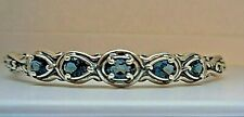 CAROLYN POLLACK Simply Fabulous sterling silver and blue topaz bracelet