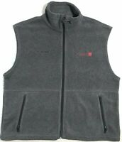 Columbia Sundance Film Festival 07 Full Zip Front Fleece XL Gray Jacket Vest EUC