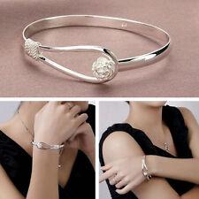 Newest Jewelry Crystal Rhinestone Love Bracelet Bangle Cuff Charm Women's Gift