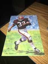 Jim Brown Cleveland Browns Goal line Art Card