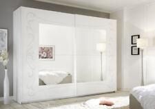SOLER Armadio Scorrevole con Specchio 243 Bianco e Serigrafia Floreale
