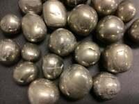 Bulk Wholesale Lot 1 Kilo ( 2.2 LBs ) - Iron Pyrite - Tumbled Polished Stones