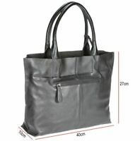 Small Leather Shoulder Compact Tote Bag Black FI6712