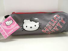 HELLO  KITTY- TROUSSE A CRAYONS-GRISE-RONDE-20 X 7 X 7 cm-NEUVE-