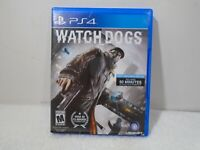 PS4 Watch Dogs (Sony PlayStation 4, 2014) RATED M w/CASE video game