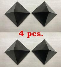 Shungite Pyramid 40 mm (4 pcs) Wholesale Polished Natural EMF Protection Healing